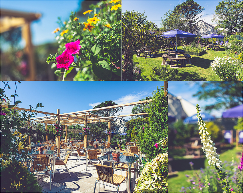 St Just Penzance Beer Garden Cornwall The Commercial