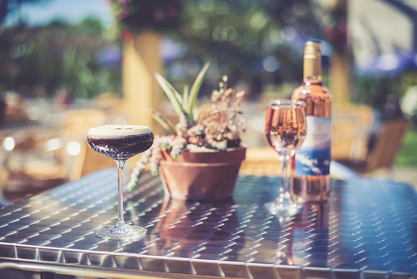 Drinks in a Cornish Beer Garden